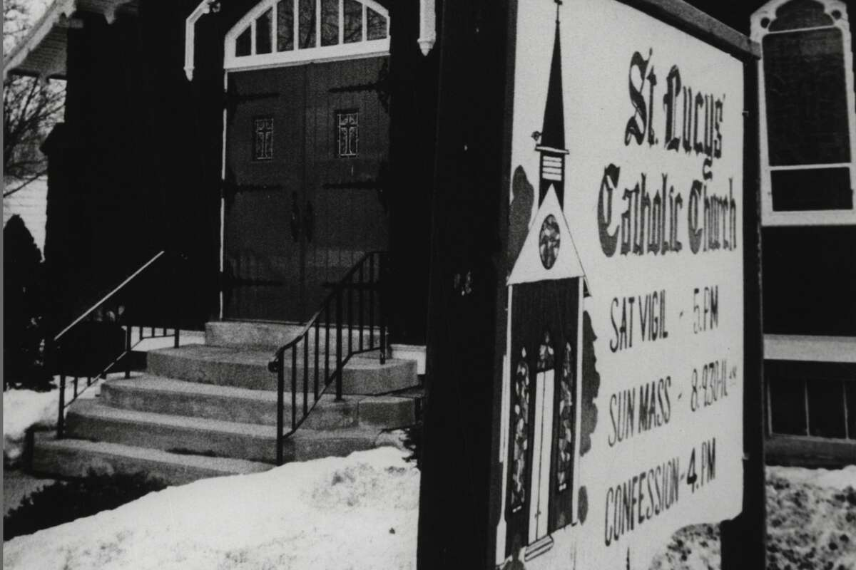 St. Lucy's Catholic Church, Altamont. March 17, 1978 (Skip Dickstein/Times Union Archive)