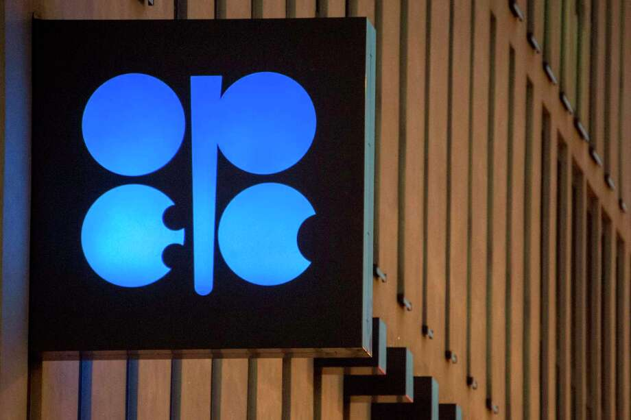 The OPEC logo. The cartel and its allies meet in Vienna, where they are likely to extend production cuts. Photo: JOE KLAMAR,  Contributor / AFP/Getty Images / AFP or licensors