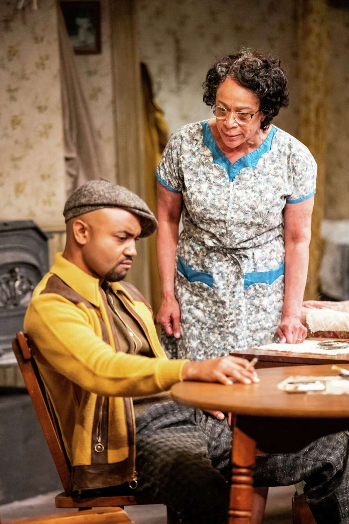 Francois Battiste as Walter Lee Younger and S. Epatha Merkerson as his mother, Lena, in