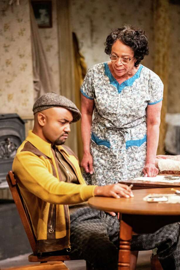 "Francois Battiste as Walter Lee Younger and S. Epatha Merkerson as his mother, Lena, in ""A Raisin in the Sun"" at Williamstown Theatre Festival. (WTF publicity photo by Joseph O'Malley."") Photo: Joseph O'Malley, Williamstown Theatre Festival"
