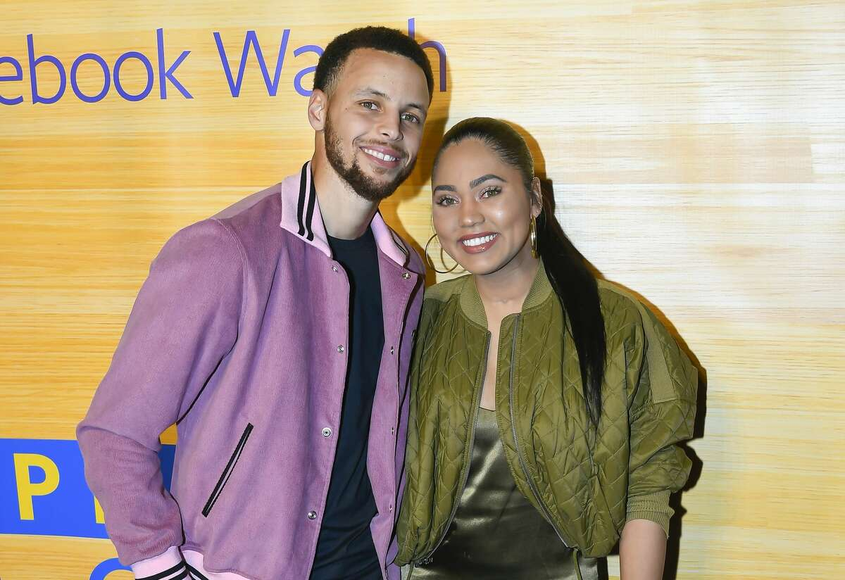 """File photo of Stephen Curry and Ayesha Curry attending the """"Stephen Vs The Game"""" Facebook Watch Preview at 16th Street Station on April 1, 2019 in Oakland, California."""