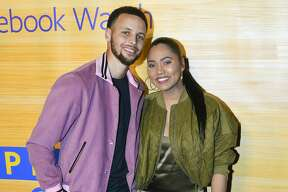 """Stephen Curry of the Golden State Warriors and Ayesha Curry attend the """"Stephen Vs The Game"""" Facebook Watch Preview at 16th Street Station on April 1, 2019 in Oakland, California. (Photo by Steve Jennings/Getty Images)"""