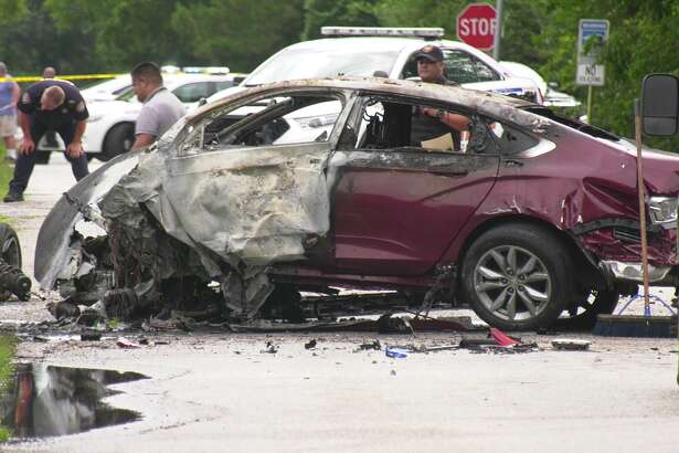 A driver fatally crashed in northwest Houston Sunday morning, according to the Harris County Sheriff's Office.