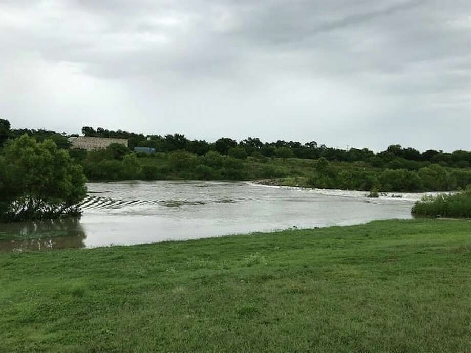 """""""***MISSION REACH TRAIL NOTICE*** Due to the recent storm events, portions of the trail may be covered in silt, debris and have water. The public is urged to use caution and avoid these areas."""" Photo: Courtesy San Antonio River Authority"""