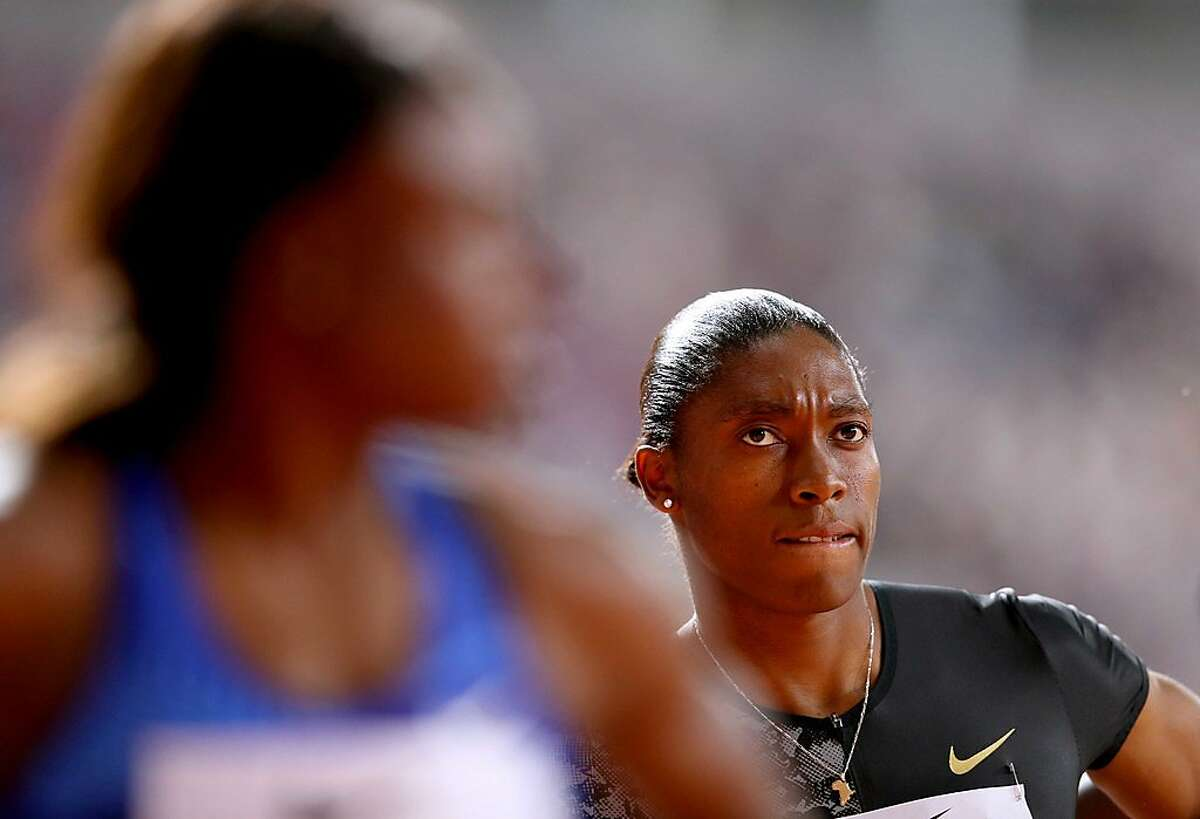DOHA, QATAR - MAY 03: Caster Semenya of South Africa looks on prior to competing in the Women's 800 meters during the IAAF Diamond League event at the Khalifa International Stadium on May 03, 2019 in Doha, Qatar. ~~