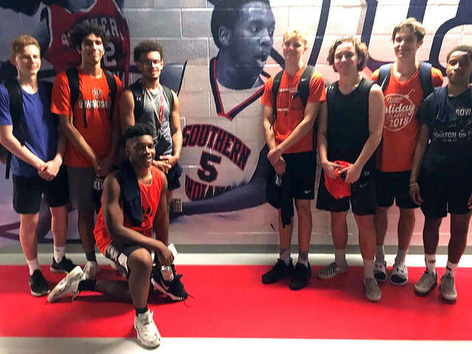 The Edwardsville boys' basketball team poses for a photo after a summer shootout at Southern Indiana University. Photo: For The Intelligencer