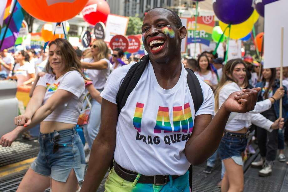Kenya Knott participates in the annual Pride Parade. Photo: Jana Asenbrennerova / Special To The Chronicle