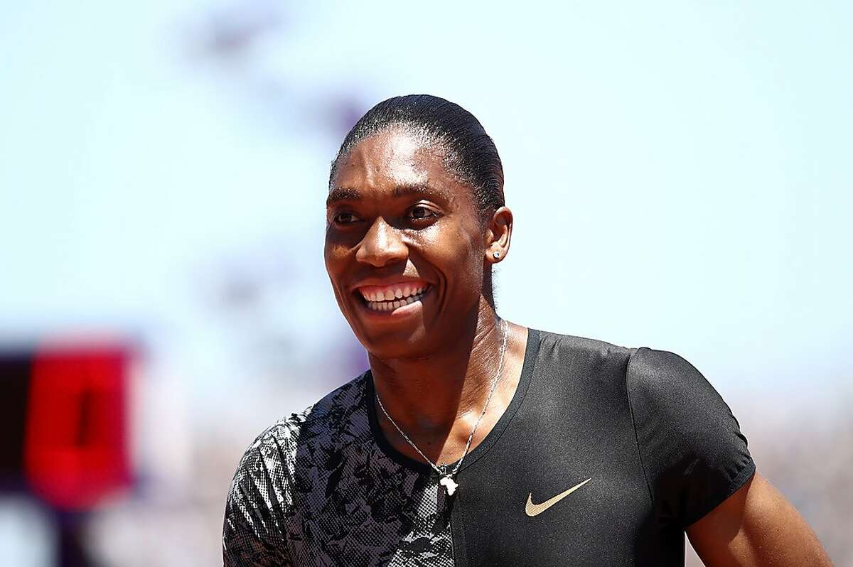 STANFORD, CALIFORNIA - JUNE 30: Caster Semenya of South Africa smiles after winning the women's 800m during the Prefontaine Classic at Cobb Track & Angell Field on June 30, 2019 in Stanford, California. (Photo by Ezra Shaw/Getty Images)