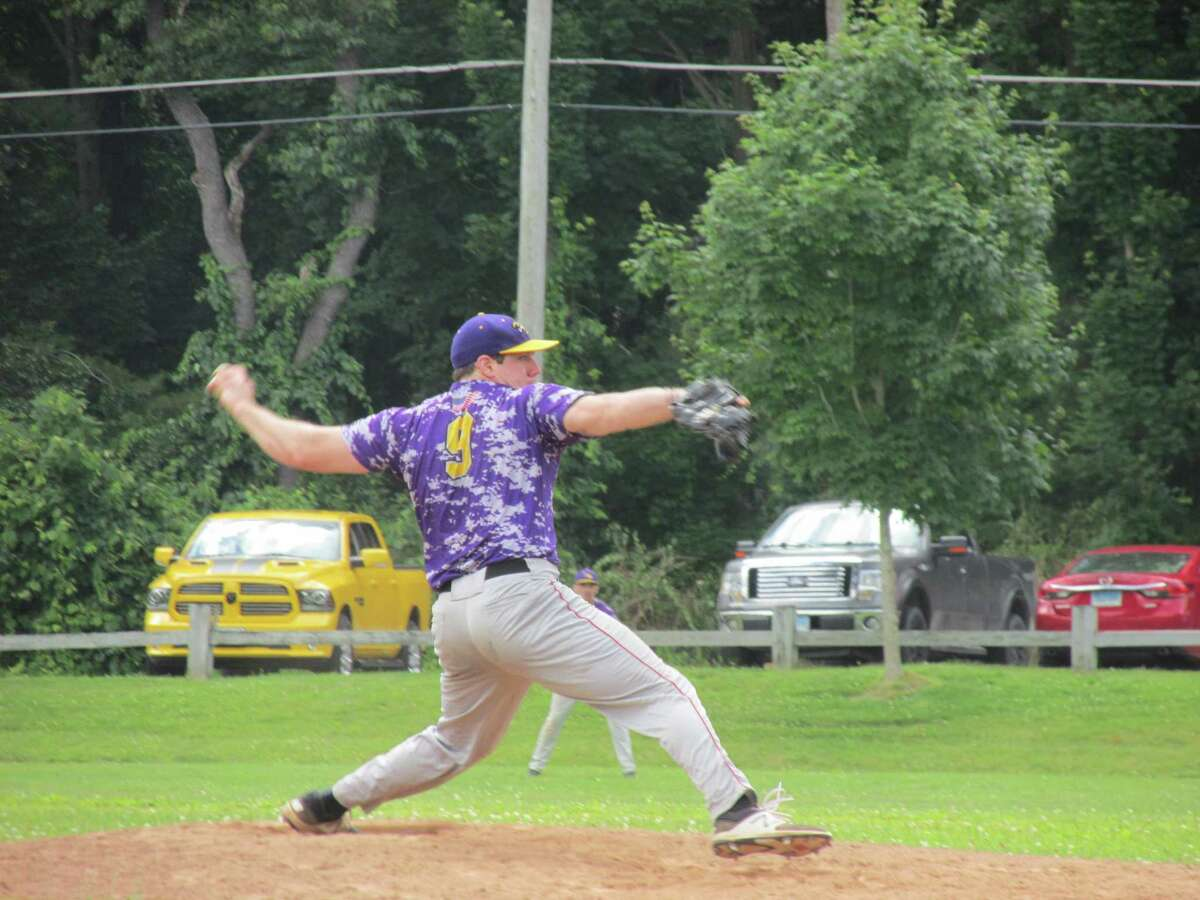 Tri-Town pitcher Charlie Benson earned a win against Bethlehem Sunday at Litchfield's Community Field.
