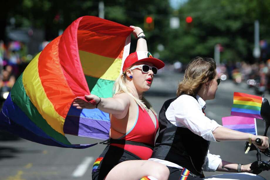 Scenes from the 45th annual Seattle Pride Parade, Sunday June, 30, 2019. Click through the gallery to see which cities are ranked in the top ten for same-sex couples. >>> Photo: Genna Martin, SEATTLEPI / GENNA MARTIN
