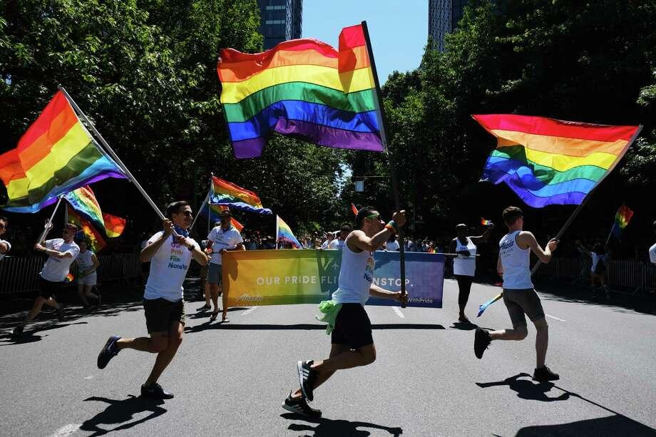Scenes from the 45th annual Seattle Pride Parade, Sunday June, 30, 2019. Photo: Genna Martin, SEATTLEPI / GENNA MARTIN
