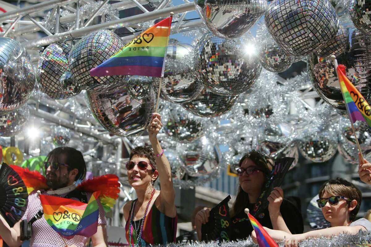 Scenes from the 45th annual Seattle Pride Parade, Sunday June, 30, 2019.