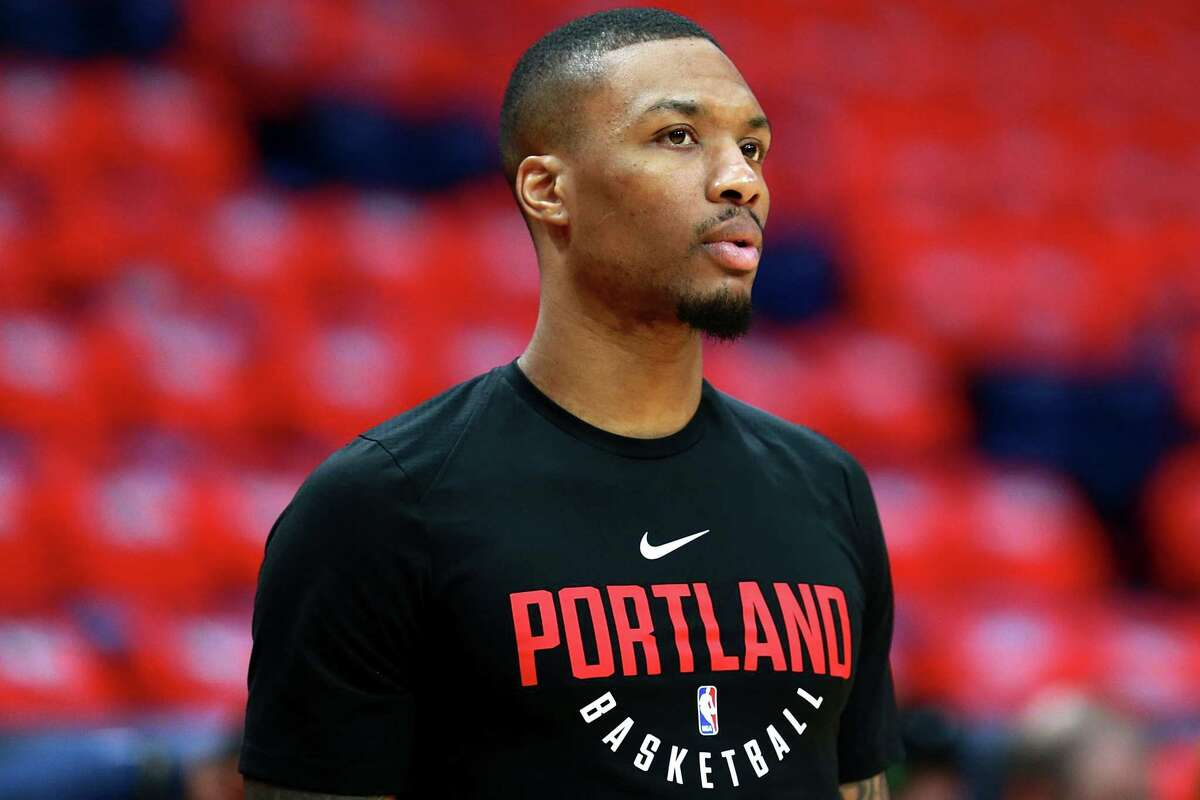 NEW ORLEANS, LA - APRIL 19: Damian Lillard #0 of the Portland Trail Blazers stands on the court prior to playing the New Orleans Pelicans during Game Three of the Western Conference playoffs at the Smoothie King Center on April 19, 2018 in New Orleans, Louisiana. NOTE TO USER: User expressly acknowledges and agrees that, by downloading and or using this photograph, User is consenting to the terms and conditions of the Getty Images License Agreement. (Photo by Sean Gardner/Getty Images)