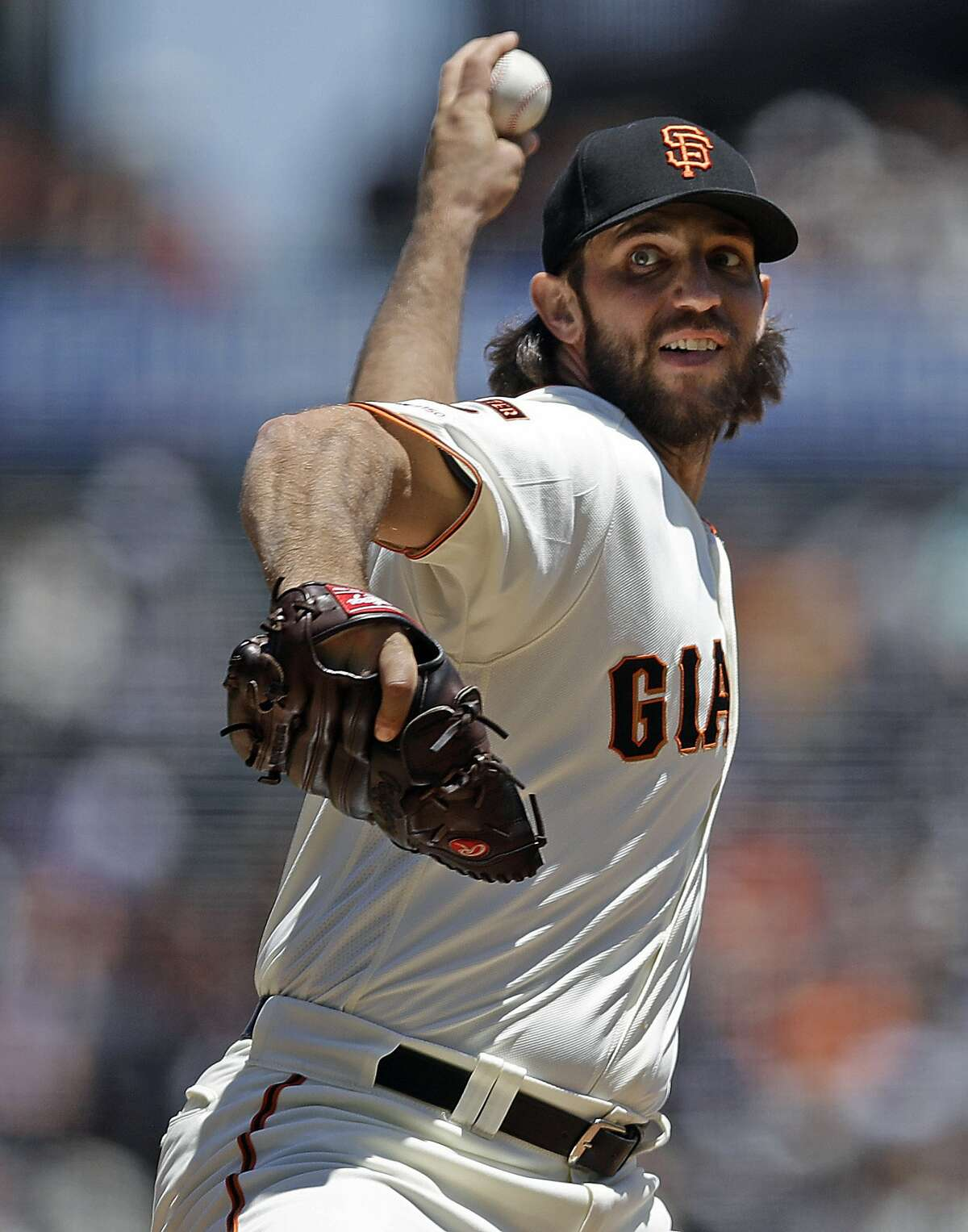 Madison Bumgarner put up solid numbers in a down year for the Giants, which should help him land a sizable contract in free agency.