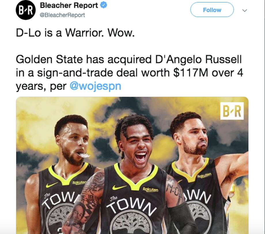 Stunning D'Angelo Russell, Andre Iguodala trades leave Warriors fans in shock