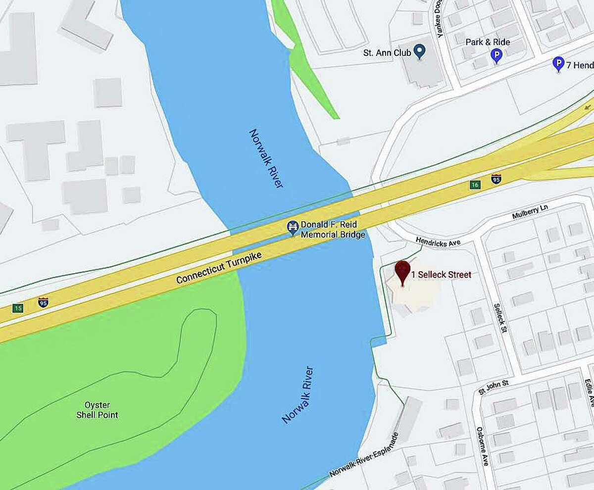 """One person was pulled from the Norwalk River on Sunday, June 30, 2019. Police said they received the call """"of a possible drowning"""" behind 1 Selleck St.. The location is a short distance downstream from I-95's Yankee Doodle Bridge. """"One person pulled from the water and transported to Norwalk Hospital."""" The condition of the person is not known at this time."""