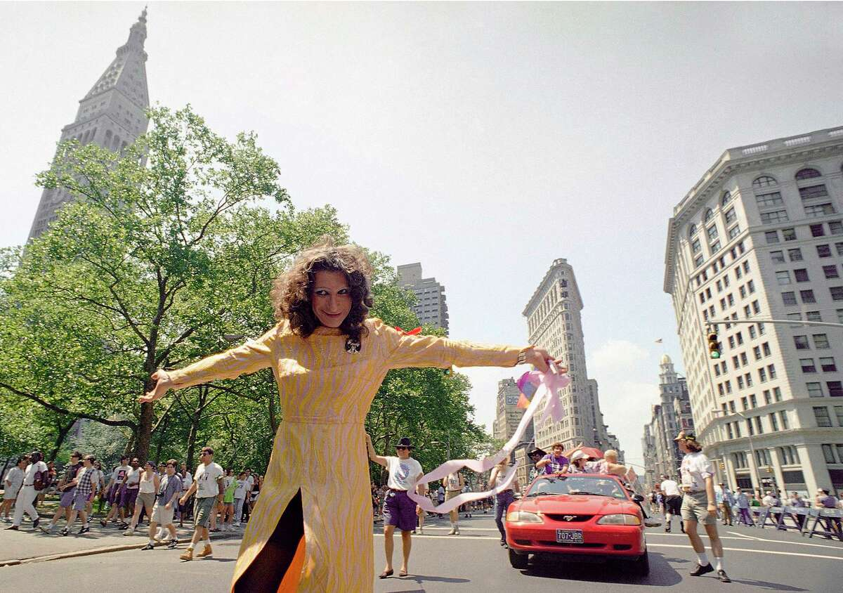 """LGBT pioneer Sylvia Rivera, seen in 1994, took part in the Stonewall rebellion and co-founded an organization for homeless gay youth. Four years after Stonewall, she had to remind the gay community: """"Y'all go to bars because of what drag queens did for you."""""""