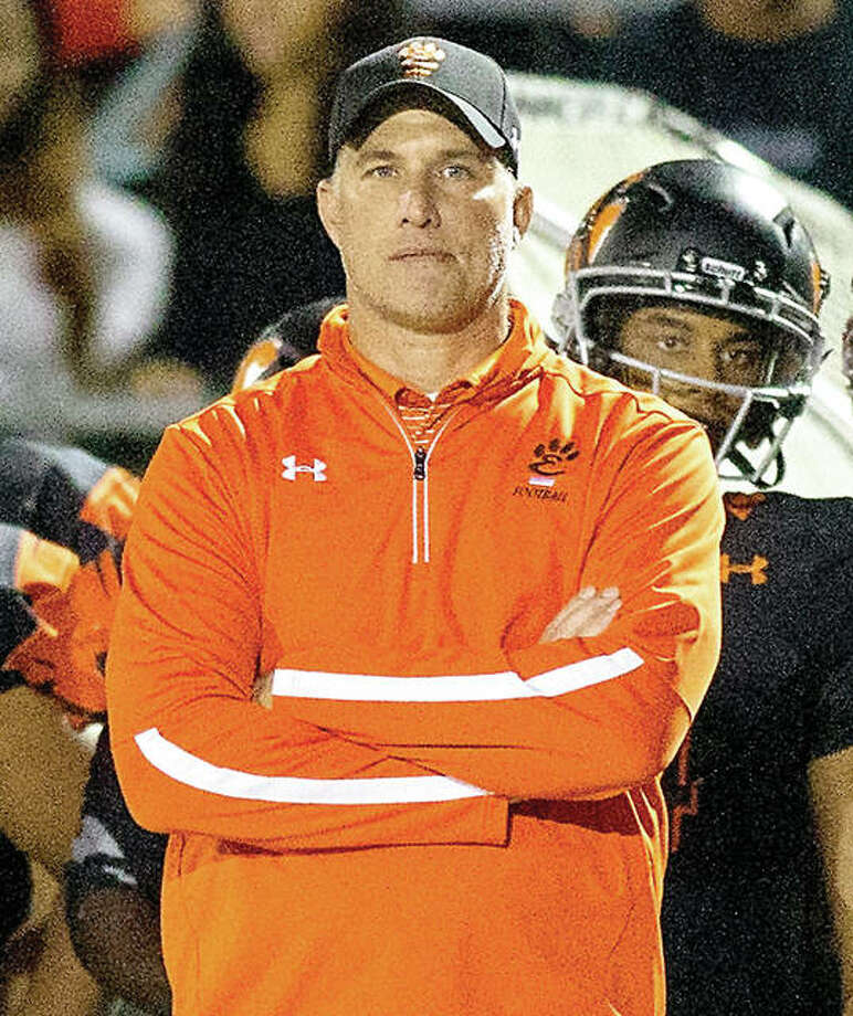 Edwardsville coach Matt Martin is the 2018 Telegraph Large-Schools Football Coach of the Year after guiding the Tigers to an 8-4 season that included a third successive trip the the Class 8A quarterfinals. Photo: Hearst Illinois File Photo