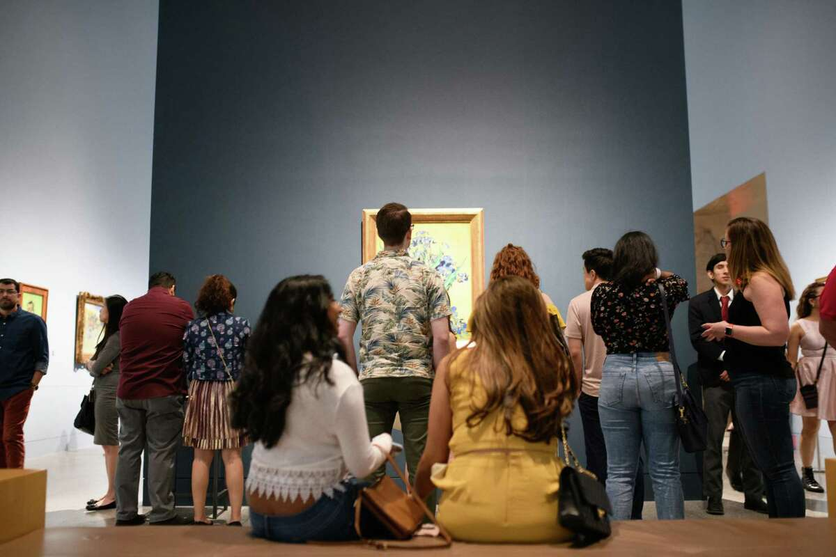 Hundreds of people attended DJ's and Van Gogh at the Museum of Fine Art Houston on Friday, April 26, 2019.