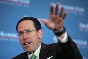 AT&T Chairman and CEO Randall Stephenson answers questions during a luncheon held by the Economic Club of Washington DC March 20, 2019 in Washington, DC. Stephenson discussed the state of technology, media and telecommunications, the development of 5G technology, net neutrality, and AT&T's recent merger with Time Warner during a question and answer session.