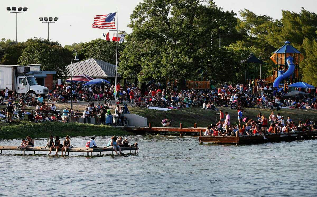 Where to celebrate the Fourth of July 2019 in San Antonio: Fourth of July Celebration: Woodlawn Lake Park will host San Antonio's official Fourth of July celebration. The event will have live music, a carnival, a food fair, a meet and greet with Curious George and, of course, fireworks. 11 a.m.-9:30 p.m. Thursday, Woodlawn Lake Park, 1103 Cincinnati. Free. saparksfoundation.org