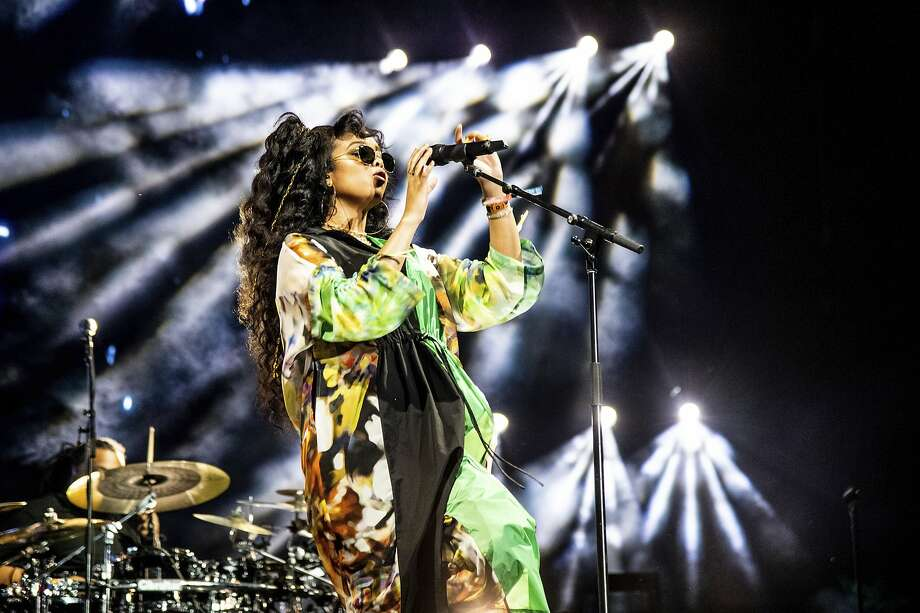 In this April 14, 2019 file photo, H.E.R. performs at the Coachella Music & Arts Festival at the Empire Polo Club in Indio, Calif. H.E.R. will take part in the Essence Festival, marking 25 years of celebrating black excellence in business, fashion, entertainment and music. Photo: Amy Harris, Associated Press