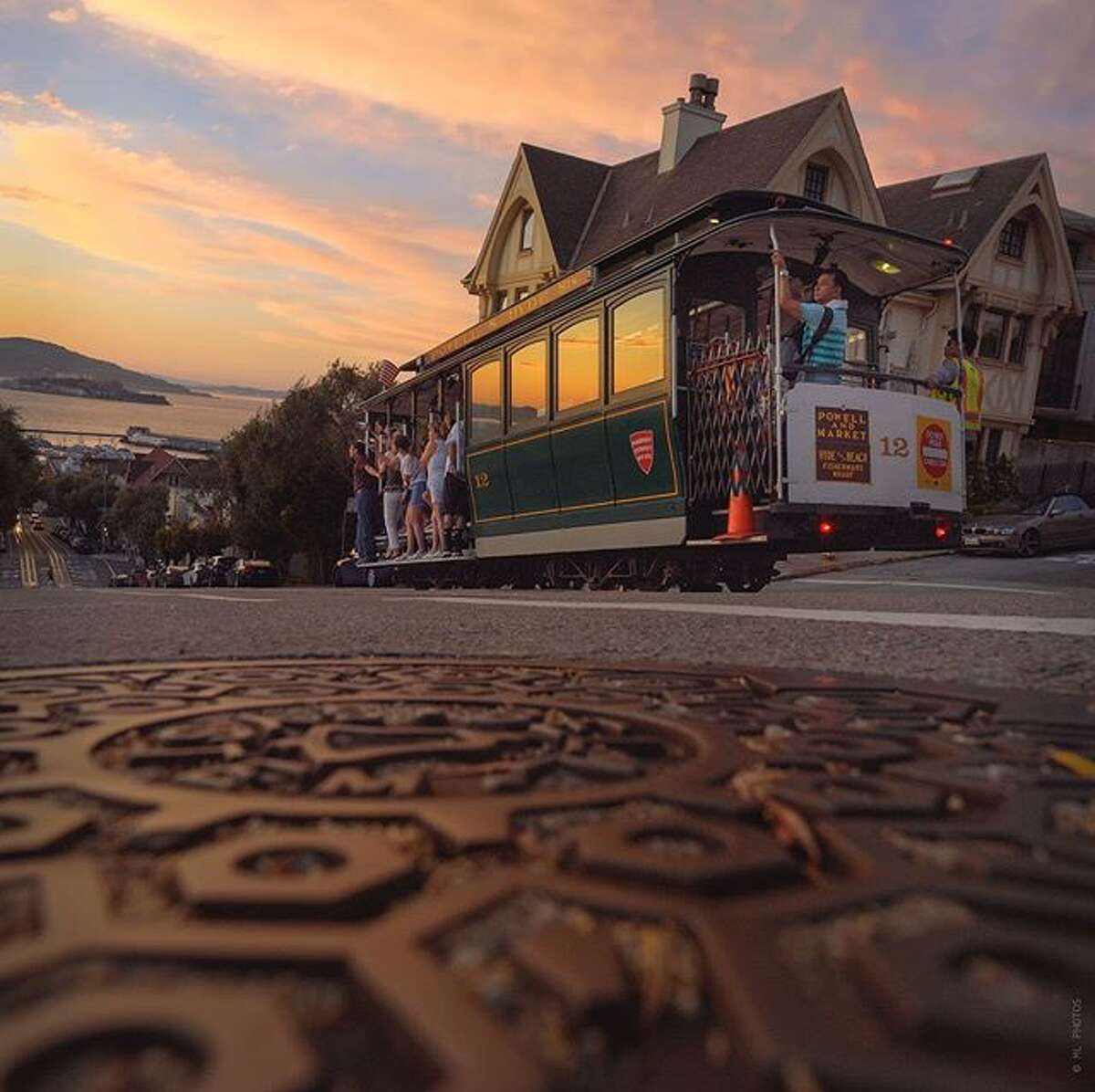 @myfrisco took this unique angle of San Francisco's cable car.