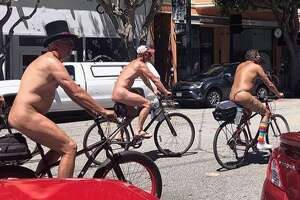 Bicyclists beating the record head in SF's Marina by @timsperez.