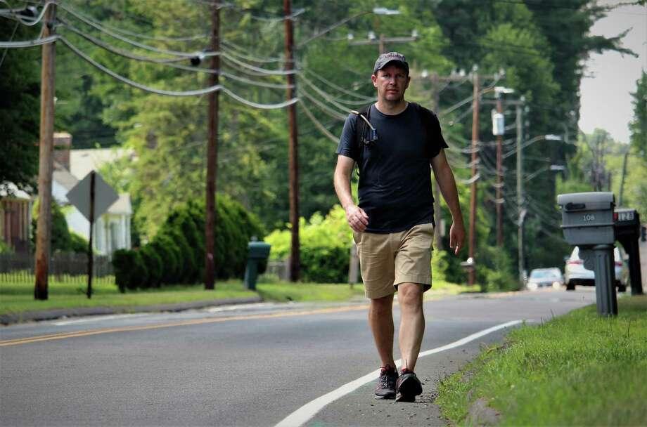 File photo of U.S. Sen. Chris Murphy during last year's Walk Across Connecticut. Photo: Dan Haar / Hearst Connecticut Media