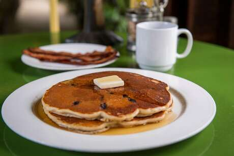 Pancakes at Deetjen's Big Sur Inn, a historic property that was damaged in the 2017 landslides but is still open to guests. Photo: Nic Coury / Special To The Chronicle