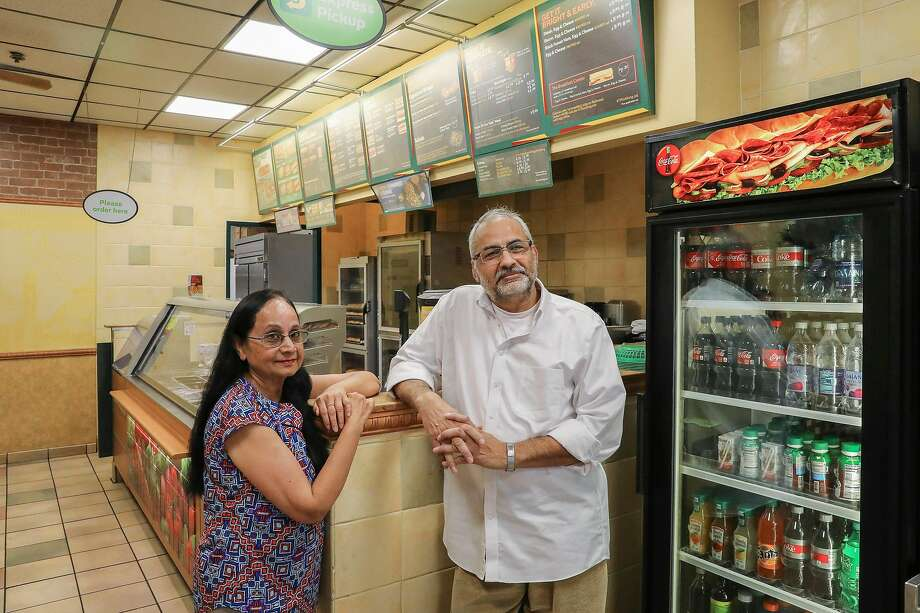 Sadhana and Manoj Tripathi, at one of their Subways, in Orinda, say they lost stores to conflicted managers over petty infractions. Photo: Jim Wilson / New York Times