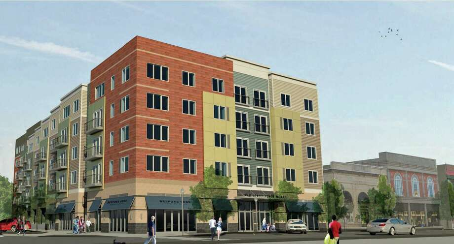 A rendering of the proposed Wall Street Place development, submitted to the City of Norwalk in June 2019 by Municipal Holdings, LLC., and JHM Financial Group, LLC. Photo: Contributed