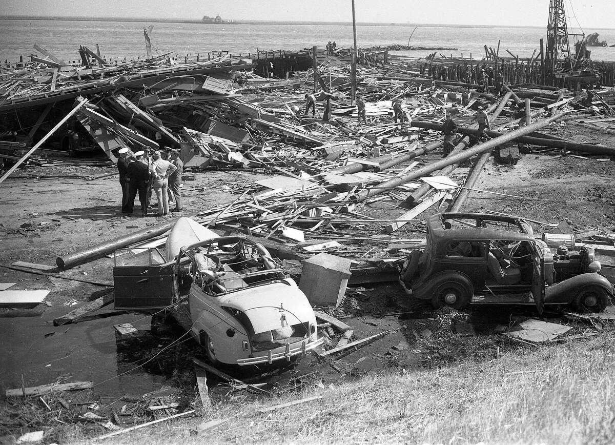 Explosion at Port Chicago while loading ammunition onto ships would kill 320 .. July 17, 1944