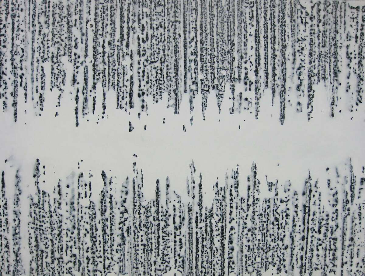 """Kiyoshi Otsuka's """"Sound Wave series - 7144,"""" acrylic on canvas, 30"""" x 40,"""" is included in the """"Summer Salon"""" Guild Exhibition at Silvermine Galleries July 6-Aug. 21, with an opening reception July 13."""