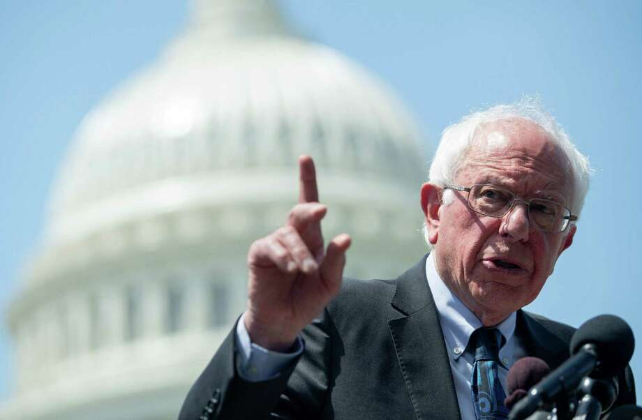 Sen. Bernie Sanders, speaks during a press conference to introduce college affordability legislation outside the U.S. Capitol in Washington, DC, June 24. Photo: SAUL LOEB /AFP /Getty Images / AFP or licensors