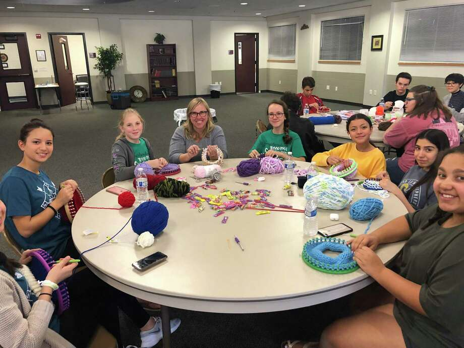 The Woodlands High School student and soon-to-be senior Gabrielle Henderson won a first-place scholarship from Four Star Leadership for her project, The Butterfly Affect. So far, her project has donated more than 300 hand-knitted hats to area hospitals. Photo: Submitted Photo / Submitted Photo