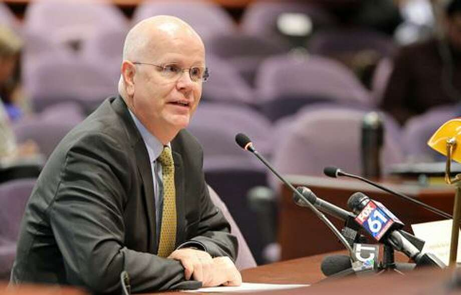 State Comptroller Kevin Lembo spoke strongly in favor of a new version of a state-directed health plan that was rolled out by the General Assembly's insuracne committee Thursday. Photo: Ctnewsjunkie File Photo