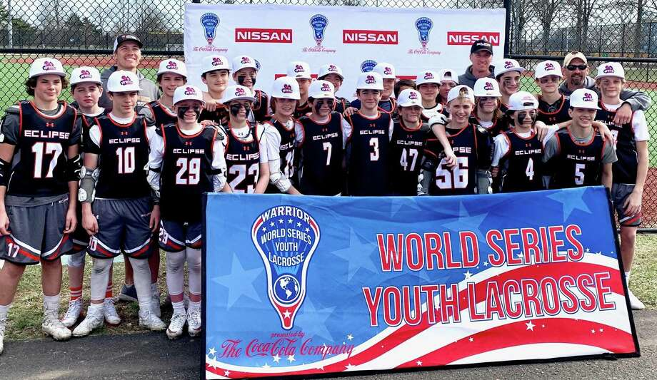 The Eclipse Lacrosse Club U13 team after qualifying for the World Series of Youth Lacrosse on Long Island, in April. The team, with players from New Milford, East Haven, Fairfield, Branford, Ridgefield, New Canaan, Darien, Greenwich, Wilton and Cheshire, is in Denver for the World Series July 1-4. Photo: Eclipse Lacrosse / Contributed Photo