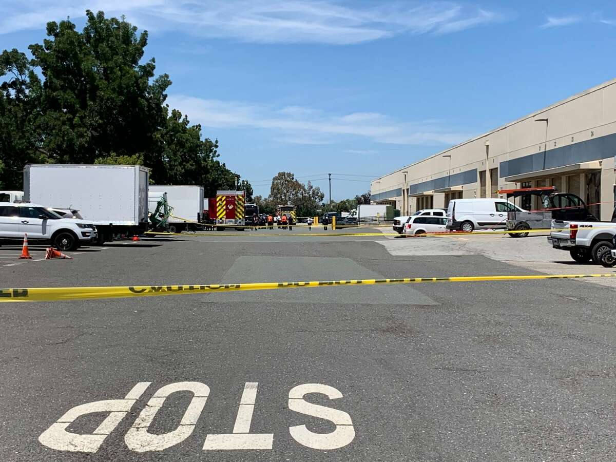 Evacuations were ordered at a Facebook mailing facility near the main headquarters in Menlo Park Monday, July 1, 2019.