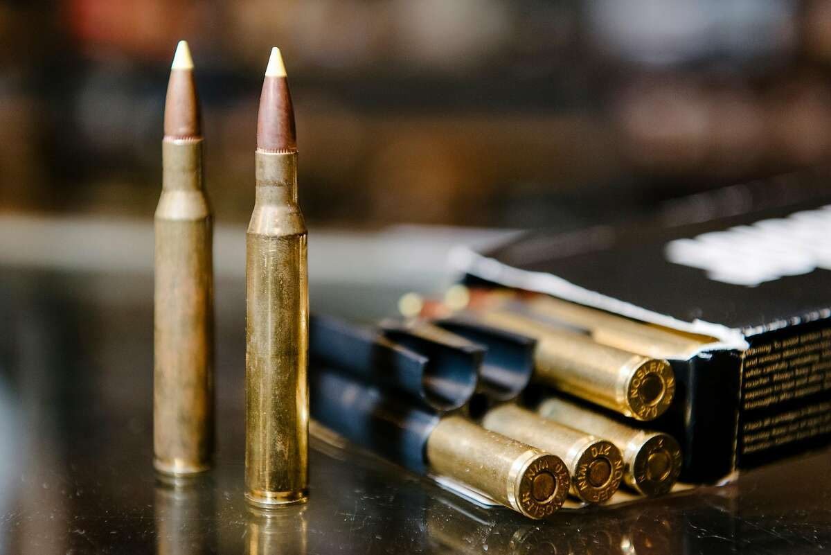Winchester 270 cartridges are displayed at Imbert & Smithers Inc. gunshot in San Carlos, CA on July 1st, 2019.