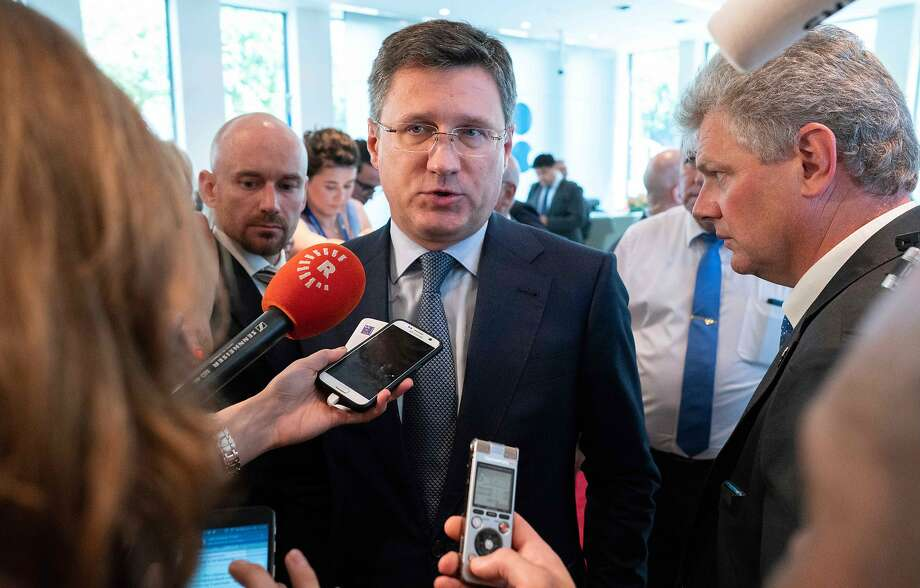"Energy Minister Alexander Novak said Moscow is ""studying"" the OPEC+ output-cut plan after days of hesitation, calling the situation ""extremely unstable."" Photo: Joe Klamar, AFP/Getty Images"