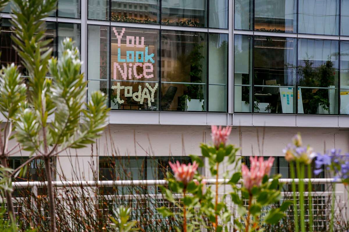 Slack's San Francisco headquarters seen in 2019. Salesforce is in talks to buy the company, the Wall Street Journal reported.