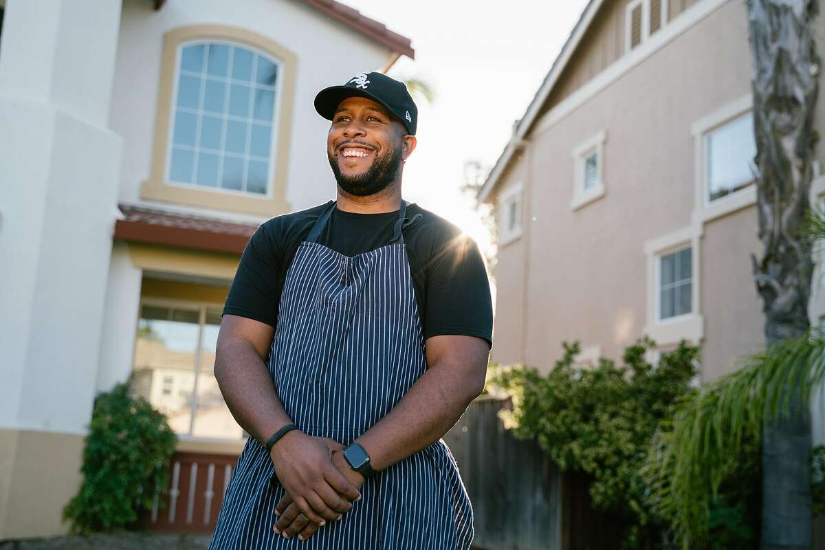 Matt Horn, 31, poses for a photo at his home in Tracy, Calif., on Sunday, June 30, 2019. Horn Barbecue, a Texas inspired barbecue pop-up in the Bay Area was established in 2015.