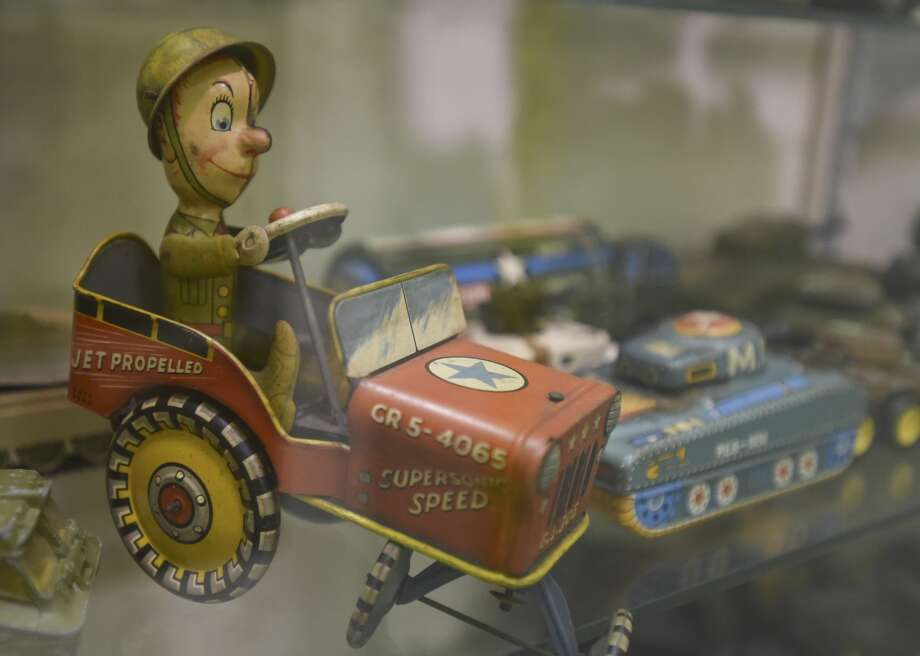 A military toy that is part of the Orangefield Cormier Museum's military toy exhibit. The toys were collected by Mr. Cormier over the years and were made between the 1950's and the 1990's. Photo taken on 07/01/19. Ryan Welch/The Enterprise Photo: Ryan Welch/The Enterprise