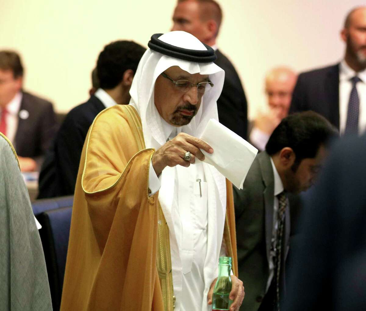 Khalid Al-Falih, Minister of Energy, Industry and Mineral Resources of Saudi Arabia stands prior to the start of a meeting the Organization of the Petroleum Exporting Countries, OPEC, at their headquarters in Vienna, Austria, Monday, July 1, 2019.