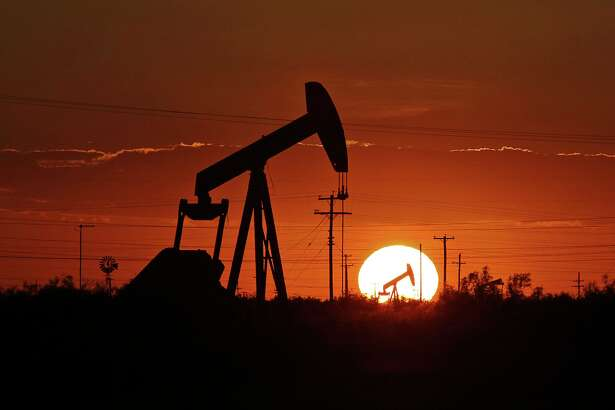 A pump jack operates in an oil field, Tuesday, June 11, 2019, in the Permian Basin in Texas. (Jacob Ford/Odessa American via AP)