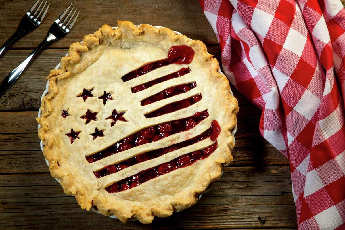Fourth of July Flag Pie