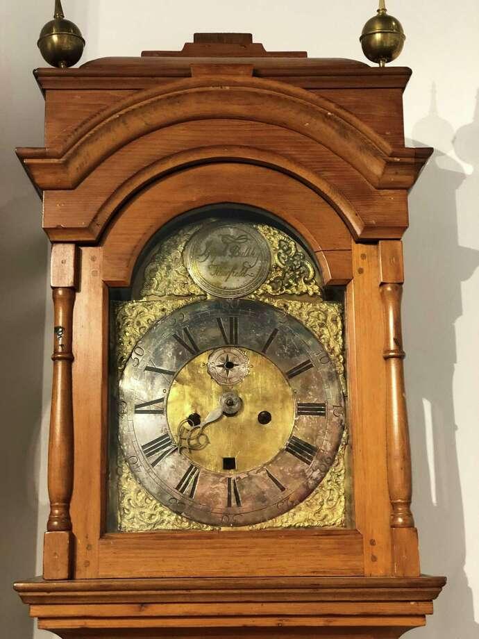 Joseph Bulkley's 1795 clock Photo: Contributed Photo
