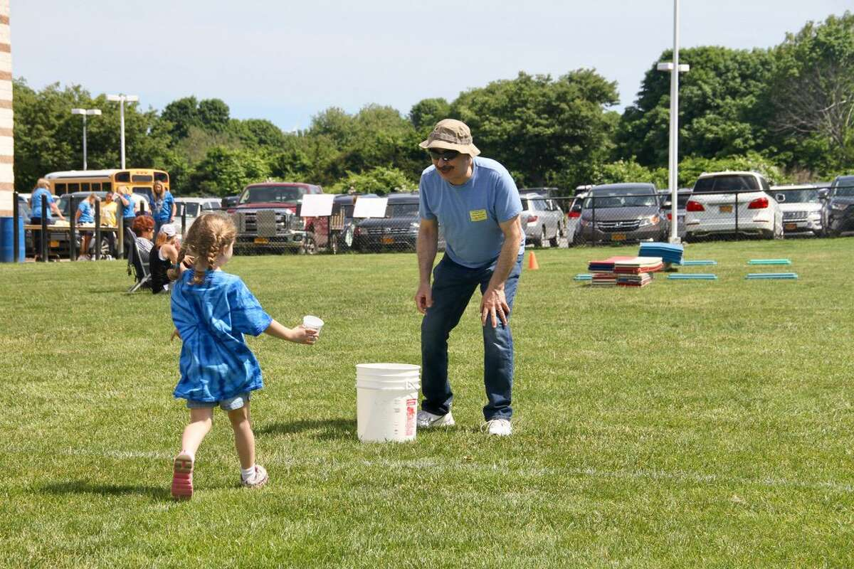Jerry Zezima has a field day with his 6-year-old granddaughter, Chloe.