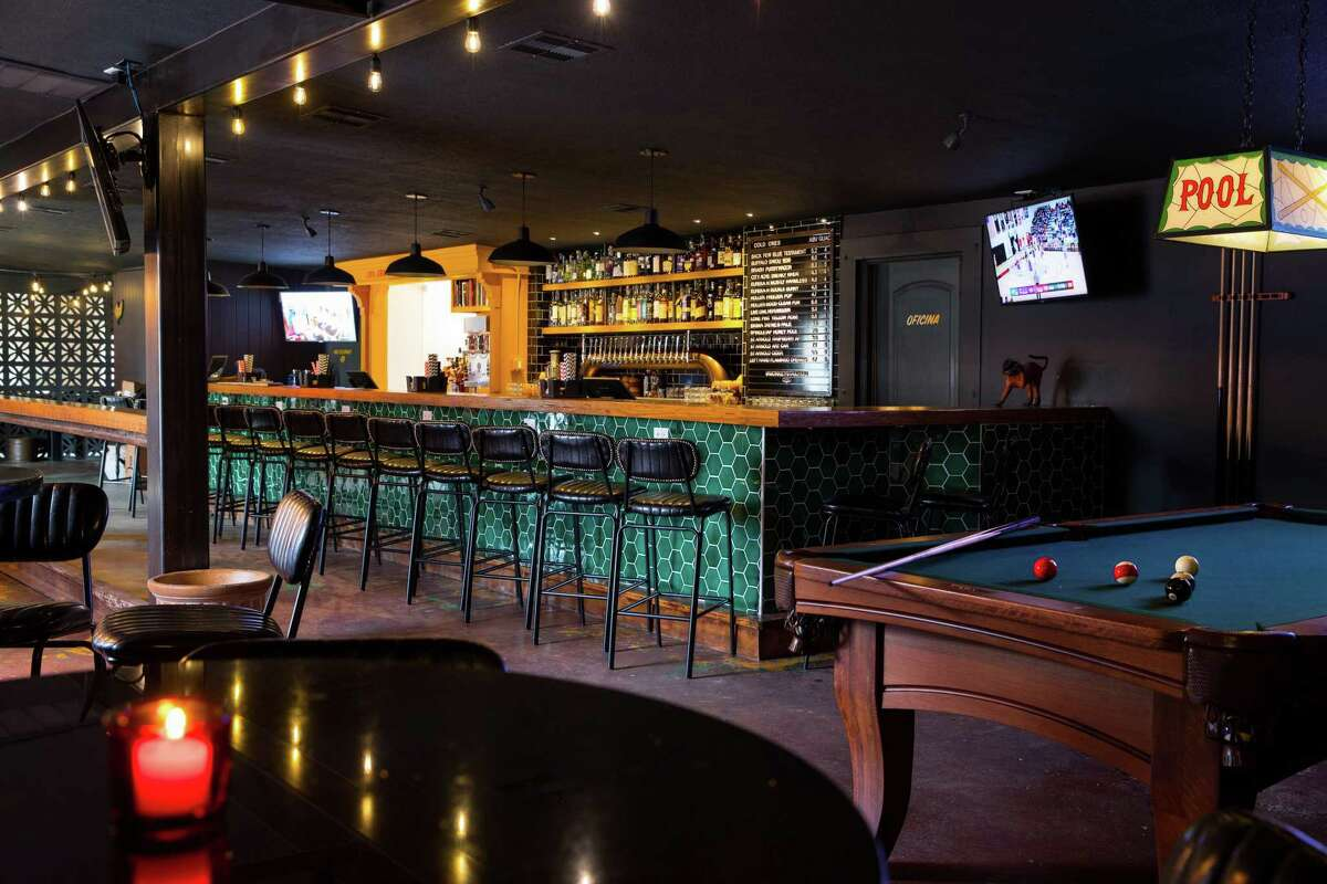 Interior of Monkey's Tail at 5802 Fulton, designed as a modern Mexican-American bar.